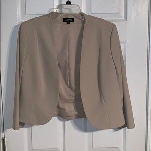 Tahari Women's Blazer - Beige - Size 12